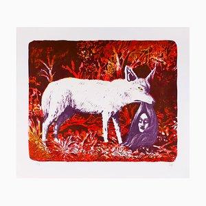 El Coyote Lithographie von Hugues Micol, 2017