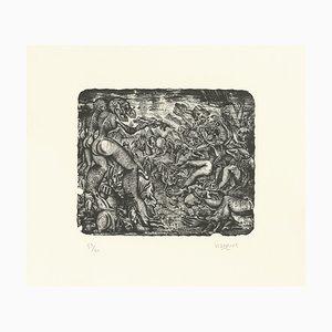 "Stéphane BLANQUET - ""Rixe Urticante"", lithograph, 2017"