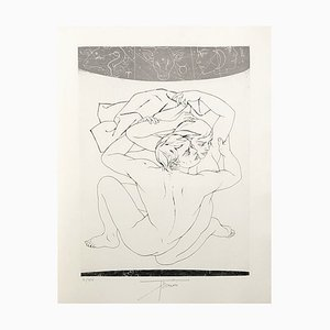 Lovers Etching by Pierre Yves Tremois