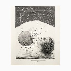 Pierre Yves TREMOIS - Atlas - Original etching handsigned and numbered
