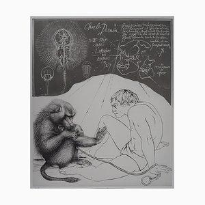 Evolution: Descendance of Man Grabado de Pierre-Yves Tremois