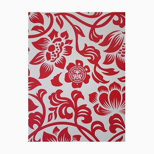 Floral Takeover 2017 (Red/Cream) by Shepard Fairey