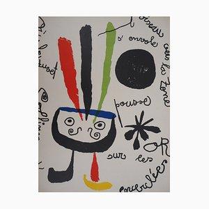 Joan MIRO : L'oiseau - Lithographie originale