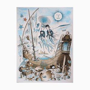 Signe du Zodiaque, Poissons Gravure by Raymond Peynet