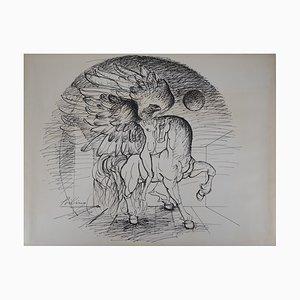 Franz Priking : Cheval et Griffon - Dessin original Signé