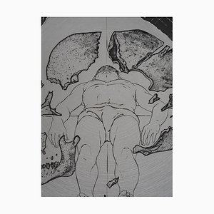 Incisione Man, The Centre of the Universe di Pierre-Yves Tremois