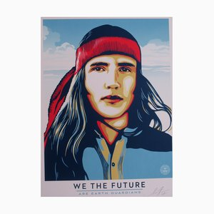 We The Future Are Earth Guardians Silkscreen by Shepard Fairey