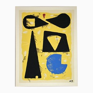 Serigrafía L'Horlogerie de Willi Baumeister, 1953