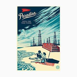 Shepard FAIREY : Paradise until the tide turns - Sérigraphie signée avec certificat