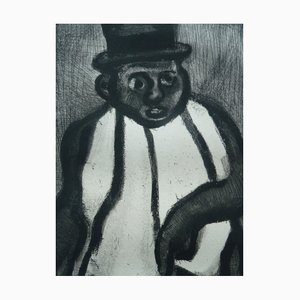 The Man with the Scarf Etching by Georges Rouault