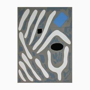 Composition pour art Abstarit Lithograph by Jean Milo, 1953