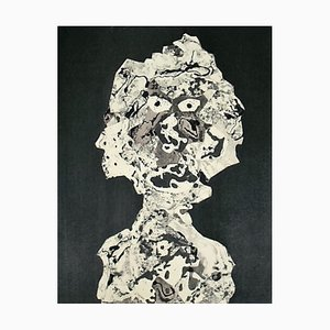 Personnage Stencil Reprint by Jean Dubuffet, 1956