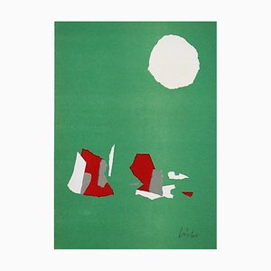 Composition on a Green Background Lithograph Reprint by Nicolas de Stael, 1958