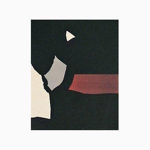Litografia Composition on a Black Background di Nicolas de Stael, 1958