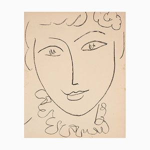 Portrait of the Pompadour Lithograph by Henri Matisse