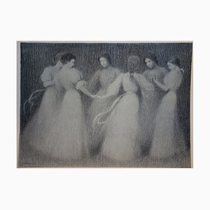 Henri LE SIDANER - Dancing Circle, 1897, original signed lithograph