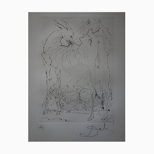 Salvador Dali - The enraged donkey, original signed engraving