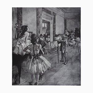 Litografía The Dance Class de Edgar Degas