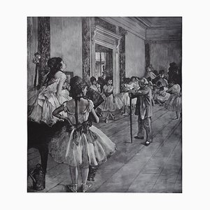 Litografia The Dance Class di Edgar Degas