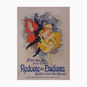 Jules Chéret : Redoute des étudiants - lithographie originale signée, 1897