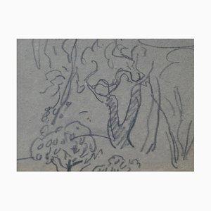 Louis VALTAT - L'orée du bois, Dessin signé