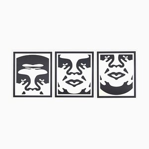Shepard Fairey (OBEY) - Obey 3 Face (White) - Signed Lithographs