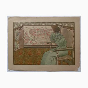 Gustave-Max Stevens - Solveig, Lithograph