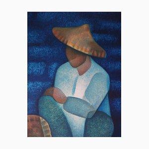 Louis TOFFOLI - Chinese salesman, original signed lithograph