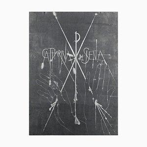 Pierre-Yves Trémois - Sienne, Catharina di Siena 2 - Handsigned dry point - 1963