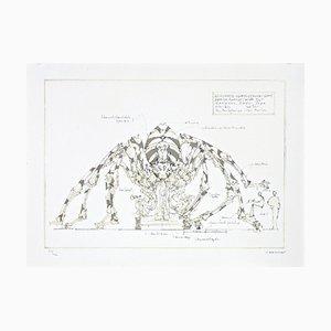 François DELAROZIERE - L'araignée géante, lithographie originale signée et numérotée