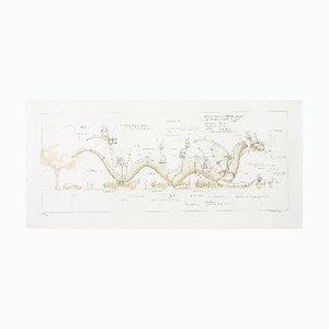 François DELAROZIERE - Le dragon, lithographie originale signée et numérotée