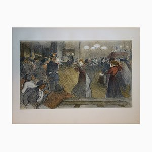 Théophile Alexandre STEINLEN - Bal de barrière, Original signed lithograph (1897)