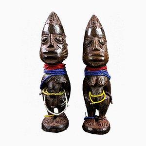 Nigeria, Yoruba, Mid-20th century - Couple of Ibeji twins