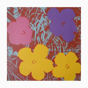 Poppy Flowers Sunday B Morning Screenprint After Andy WARHOL