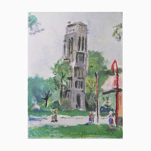 La Tour Saint Jacques Original Lithograph by Maurice Utrillo