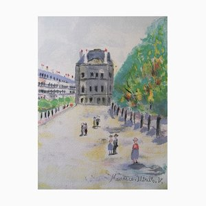The Louvre Museum Original Lithograph by Maurice Utrillo