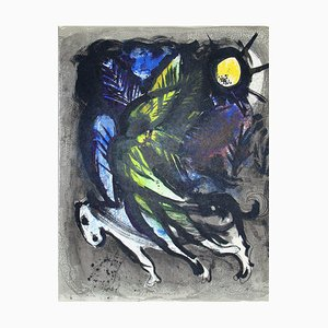 MARC CHAGALL - The Angel, 1960, Original lithograph