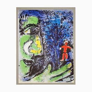 The Profil of the Red Child Original Lithograph by Marc Chagall, 1960