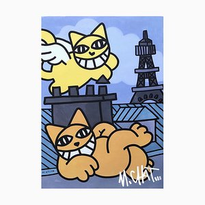 M.CHAT (Thomas Vuile) - Parisian cats - Serigraph signed and numbered