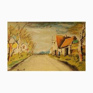 Litografia La route di Maurice De Vlaminnck