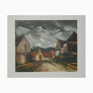 Village de la Sarthe Lithograph by Maurice De Vlaminnck