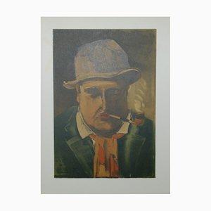 Autoportrait Lithographie von Maurice De Vlaminnck
