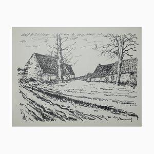 Les Challonges Lithograph by Maurice De Vlaminck