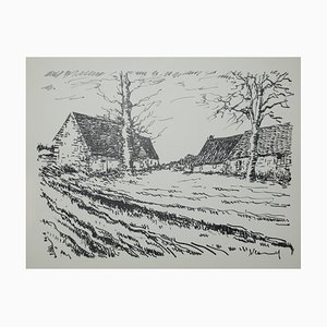 Les Challonges Lithograph by Maurice De Vlaminnck