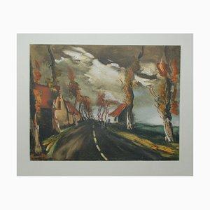 La route de Mortagne Lithograph by Maurice De Vlaminck