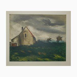 La Maison Dans la Plaine Lithograph by Maurice De Vlaminck