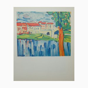 Litografia Le Pont de Chatou di Maurice De Vlaminnck