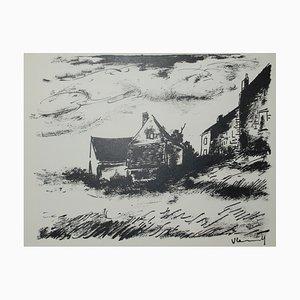 La Potinière à Rueil Lithographie von Maurice De Vlaminck