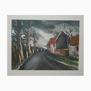 La Route de Longny Lithograph by Maurice De Vlaminnck