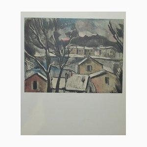 Paysage d'hiver Lithograph by Maurice De Vlaminck